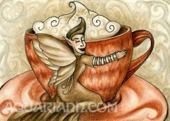 Hot Chocolate Fairy by aquariann