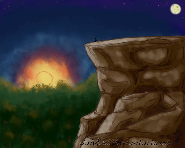 Watching a Lovely Sunset by daMimi