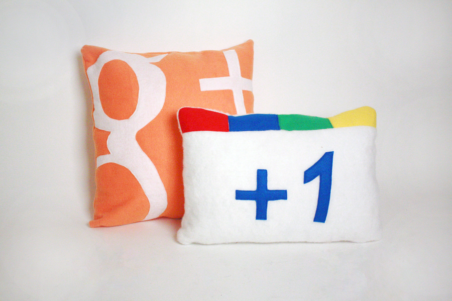 Google Plus Pillow by abcdennis