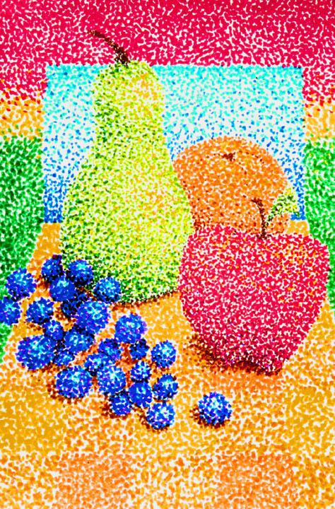 Pointillism Fruit By Mgafm On Deviantart