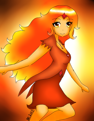 Flame Princess by BecauseWafflesCanFly