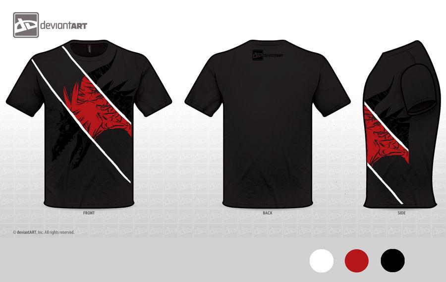 d8c5bbbc Mythical Creatures T-shirt design - Black Dragon by Shizuka-Sky on ...
