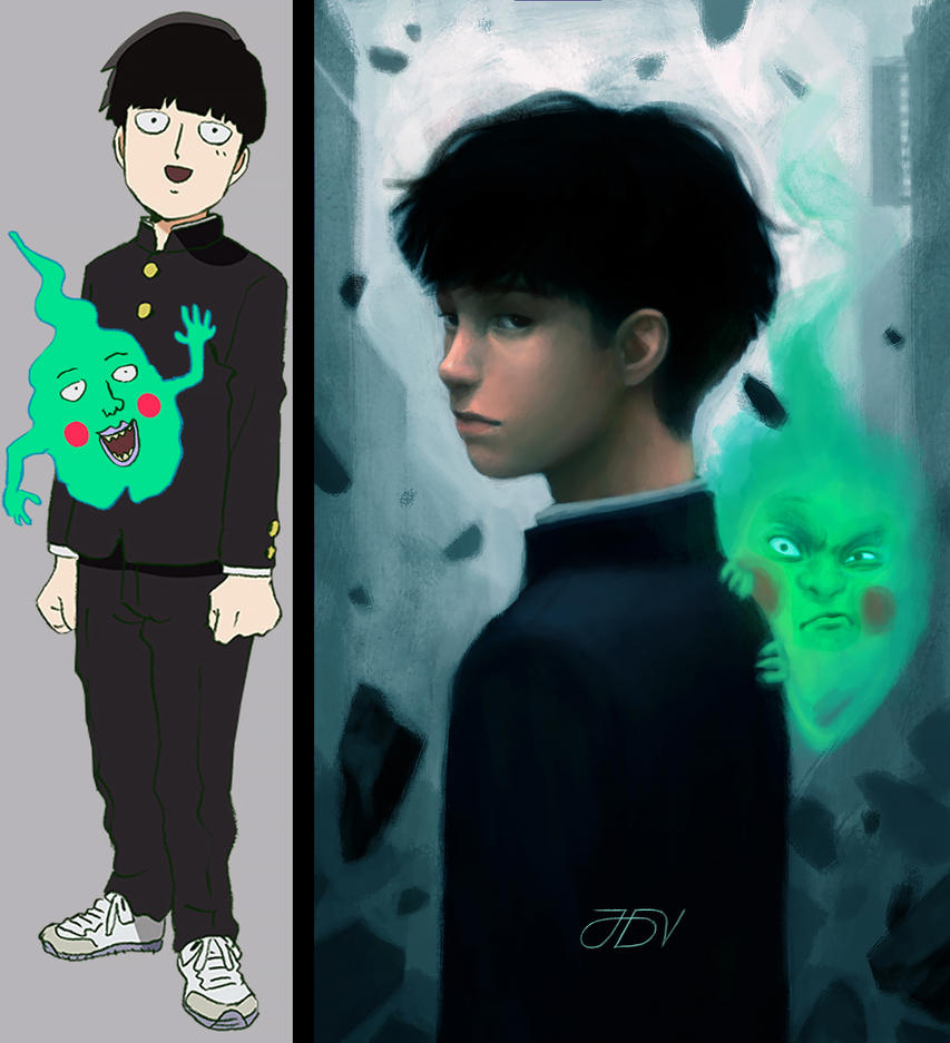 Shigeo and Dimple (MOB PSYCHO 100) by JoseDalisayV