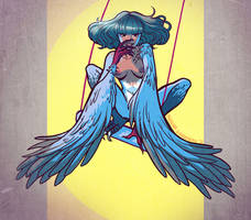 Swingin' Harpy by Digital-Tea