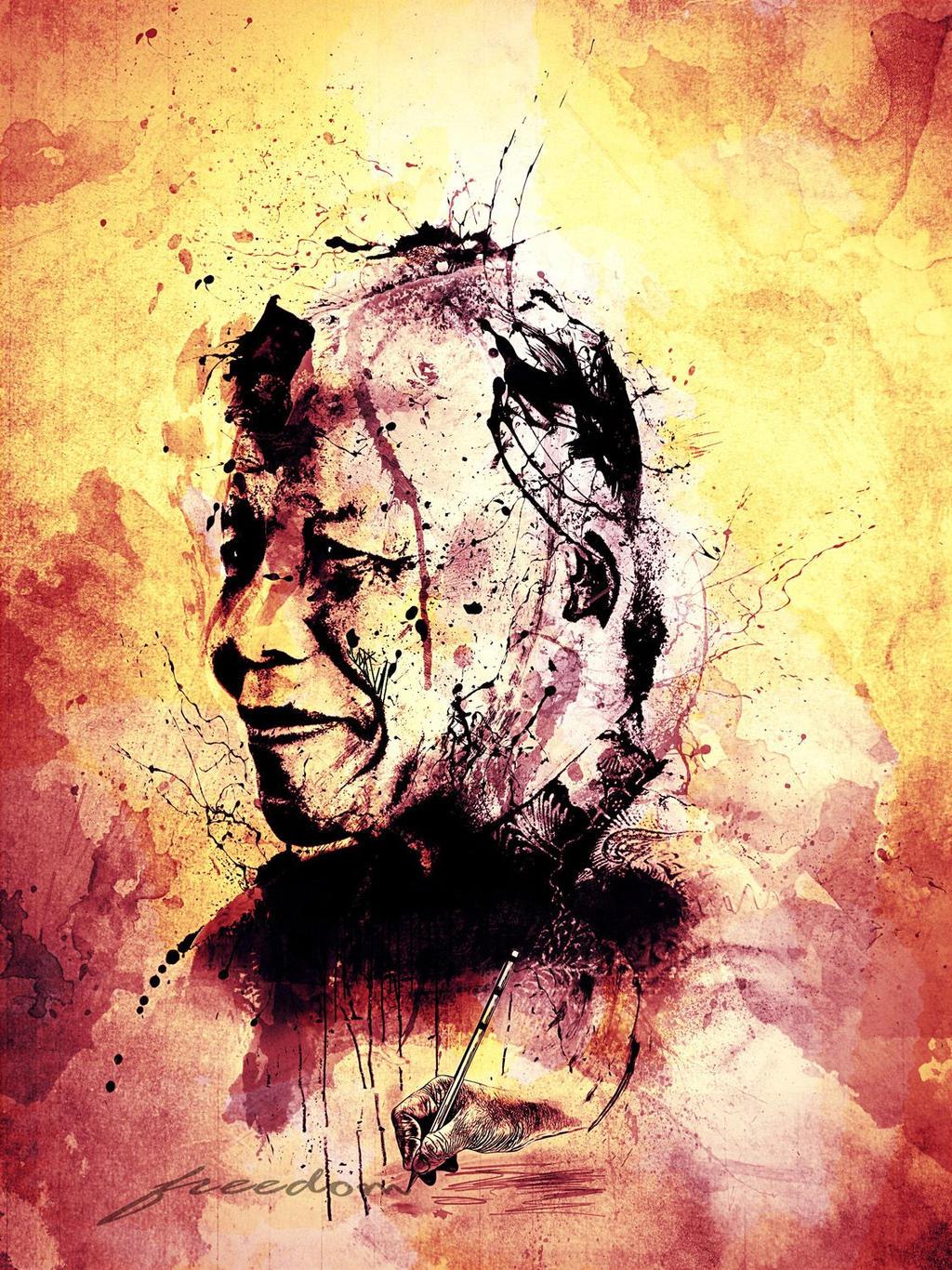 Freedom - Nelson Mandela by zepaulo