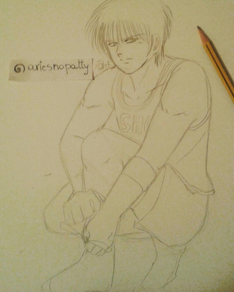 Kaede Rukawa sketch Slam Dunk by ariesnopatty