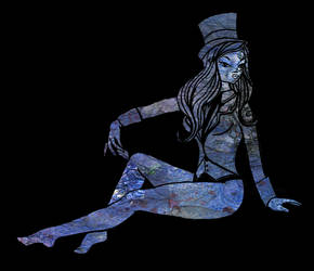 pin up blue by LacedUpIllustration