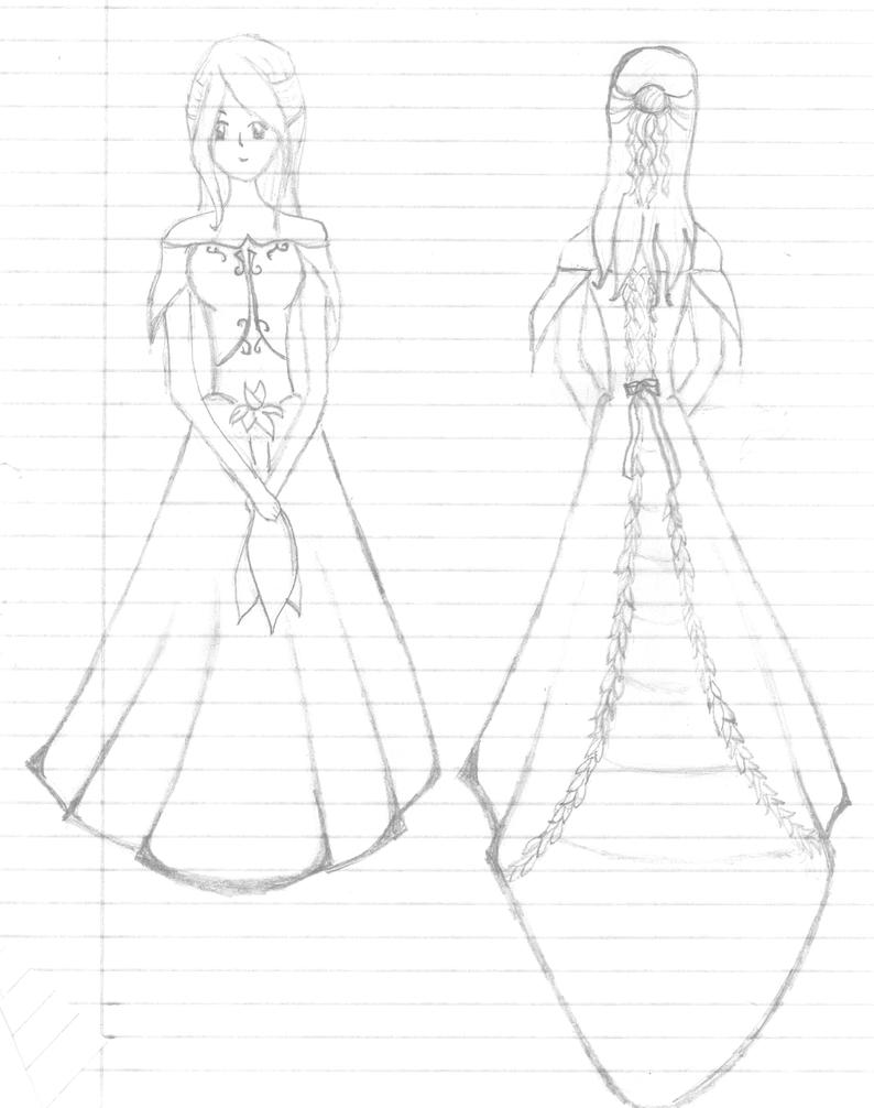 Easy Sketches of Wedding Dresses Wedding Dress Sketch by