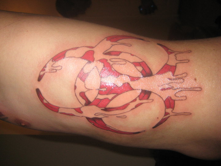 Biohazard tattoo by ~nate32 on deviantART