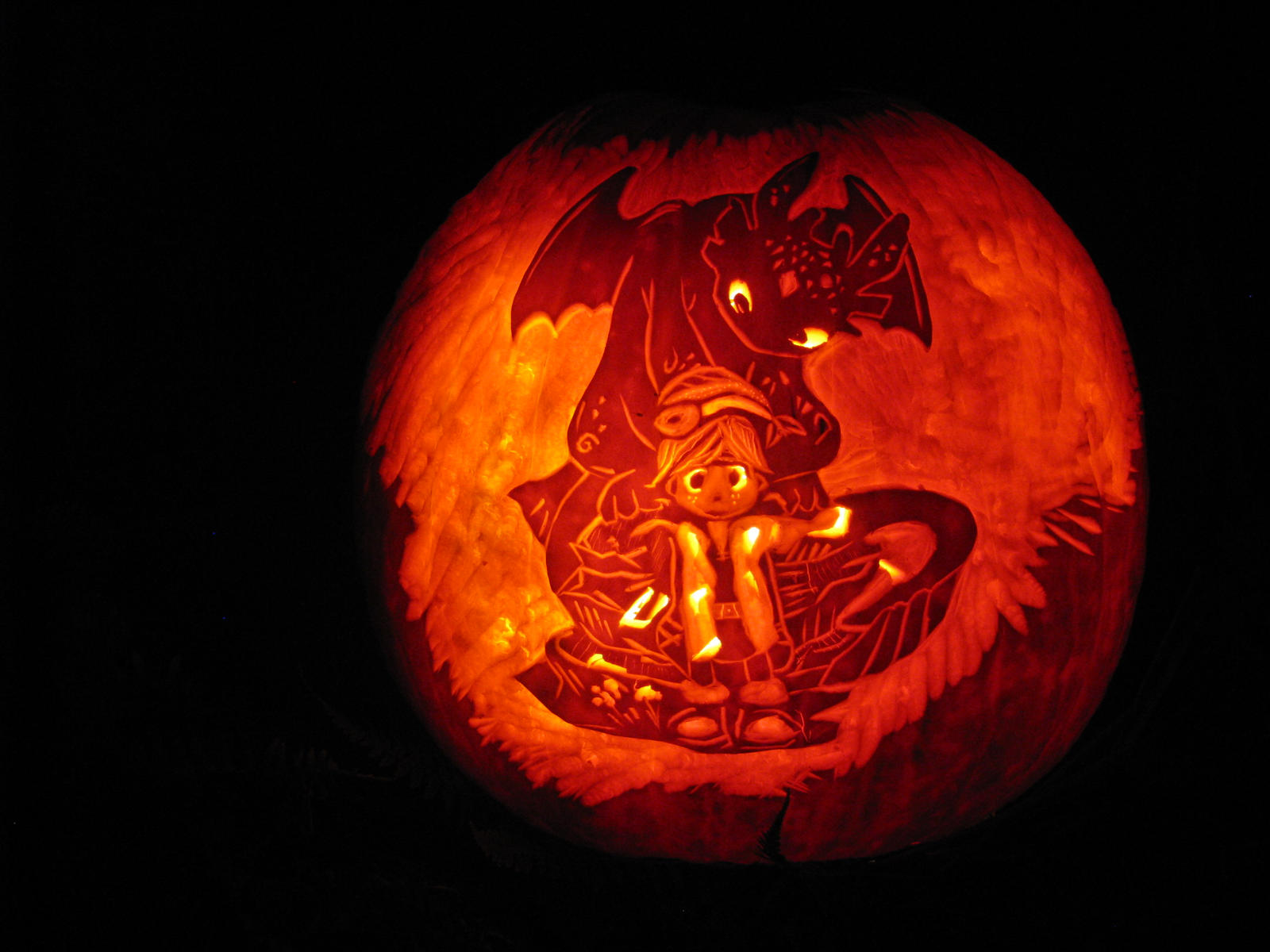 Toothless and hiccup pumpkin by emerada on deviantart