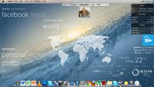 My desktop with Rainmeter by ubatavia