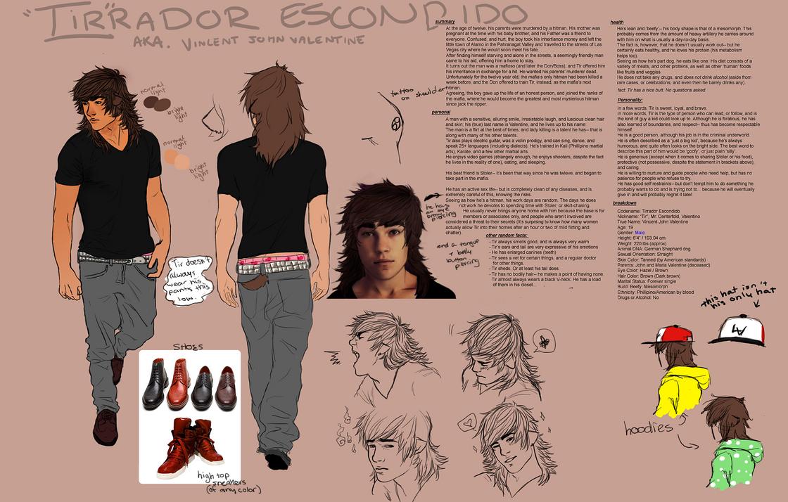 Tirrador Escondido Reference Sheet by TranslucentRainbow