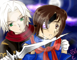 Ramirez and Vyse by eeveelover