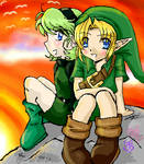 Sunset Saria and Linky-poo