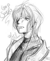 Genjo Sanzo Sketch by eeveelover