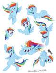 Rainbow Dash doodles