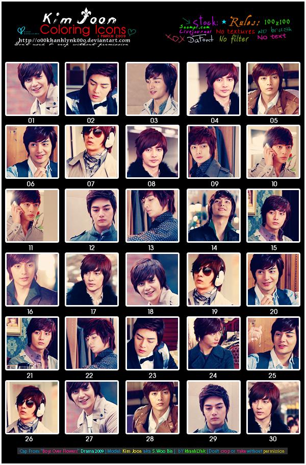 Kim Joon's Coloring Icons 1 by o00khanhlynk00o