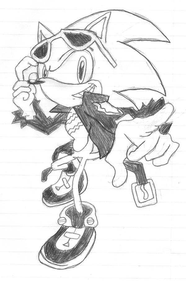 Scourge the Hedgehog Sketch by SonicFan3
