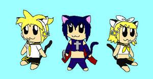 Cat Ears Switch-Len,Ikuto,Rin