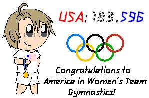 2012 Olympics-USA Women's Team Gymnastics by SonicFan3