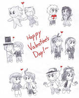Dumb Valentine's Doodles by SonicFan3