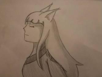 Pencil Sayuri by SonicFan3