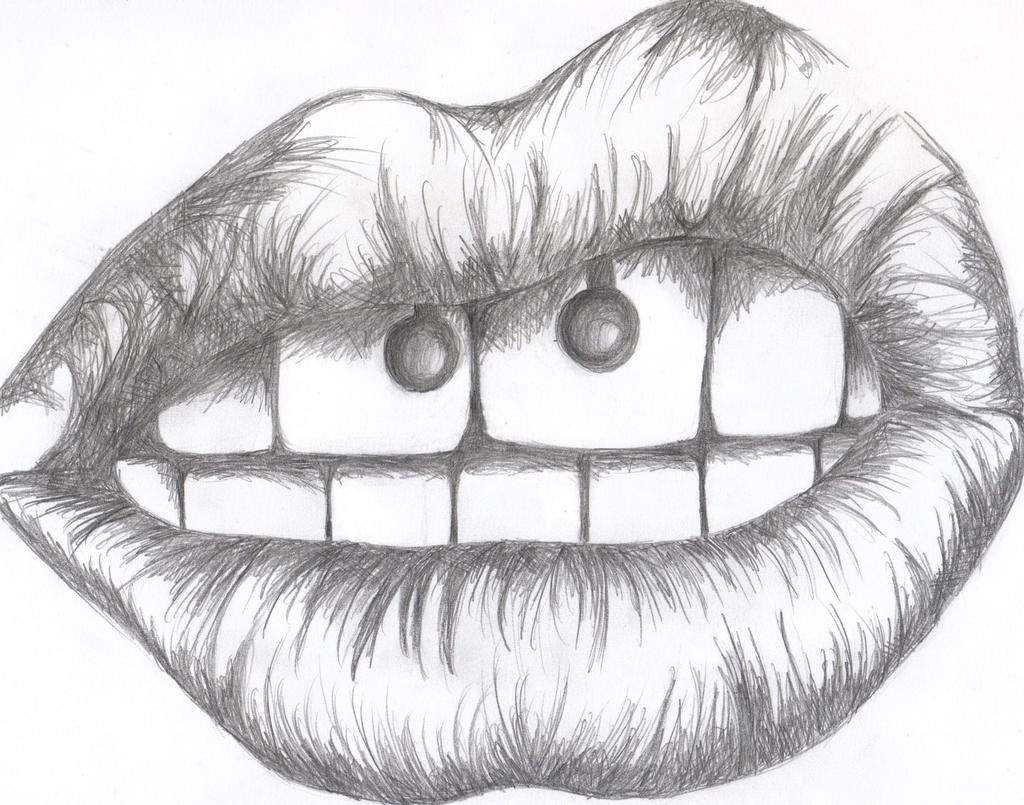 Red lips tumblr drawing the image kid for How to draw cute lips