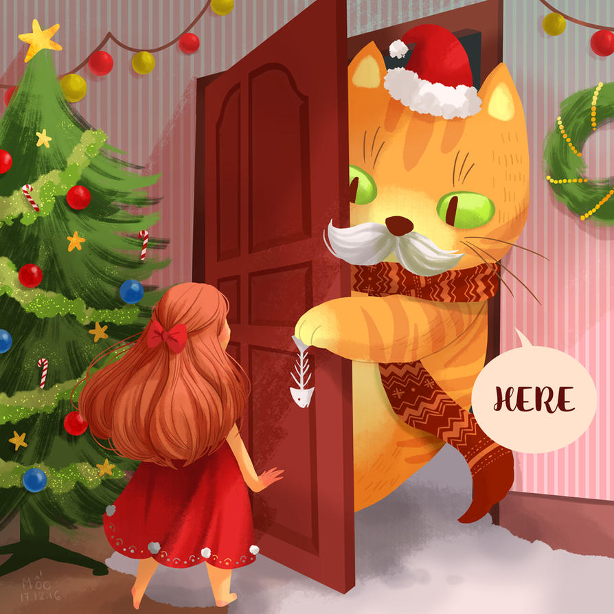 Santa Cat by Adventure-of-Moc