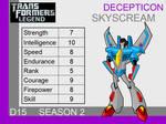 Transformers: Legend D15 - (Skyscream)