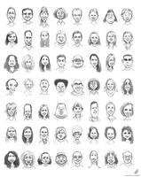Caricature Practice 2012 by CrescentDebris