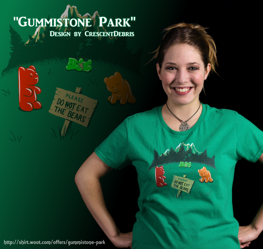 Gummistone Park - Shirt Modeled (Composite) by CrescentDebris