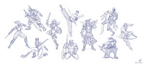 SoulBlade - Cast Sketches