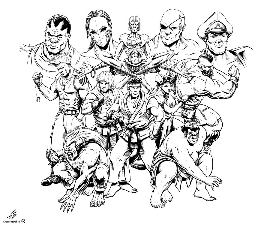 STREET FIGHTER II: The World Warrior (LINES)