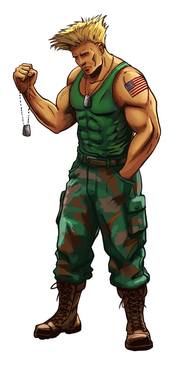 Guile Street Fighter Anniversary Fge Version By Crescentdebris