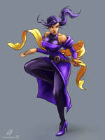 STREET FIGHTER ALPHA (ZERO): Rose (COLOR) by CrescentDebris