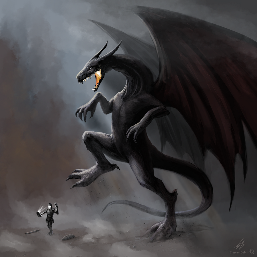 #dragon (Hashtag Dragon) by CrescentDebris