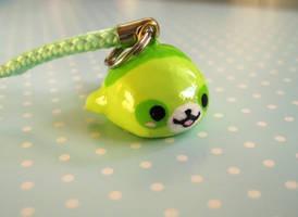 Green Panda Mamegoma Charm 1