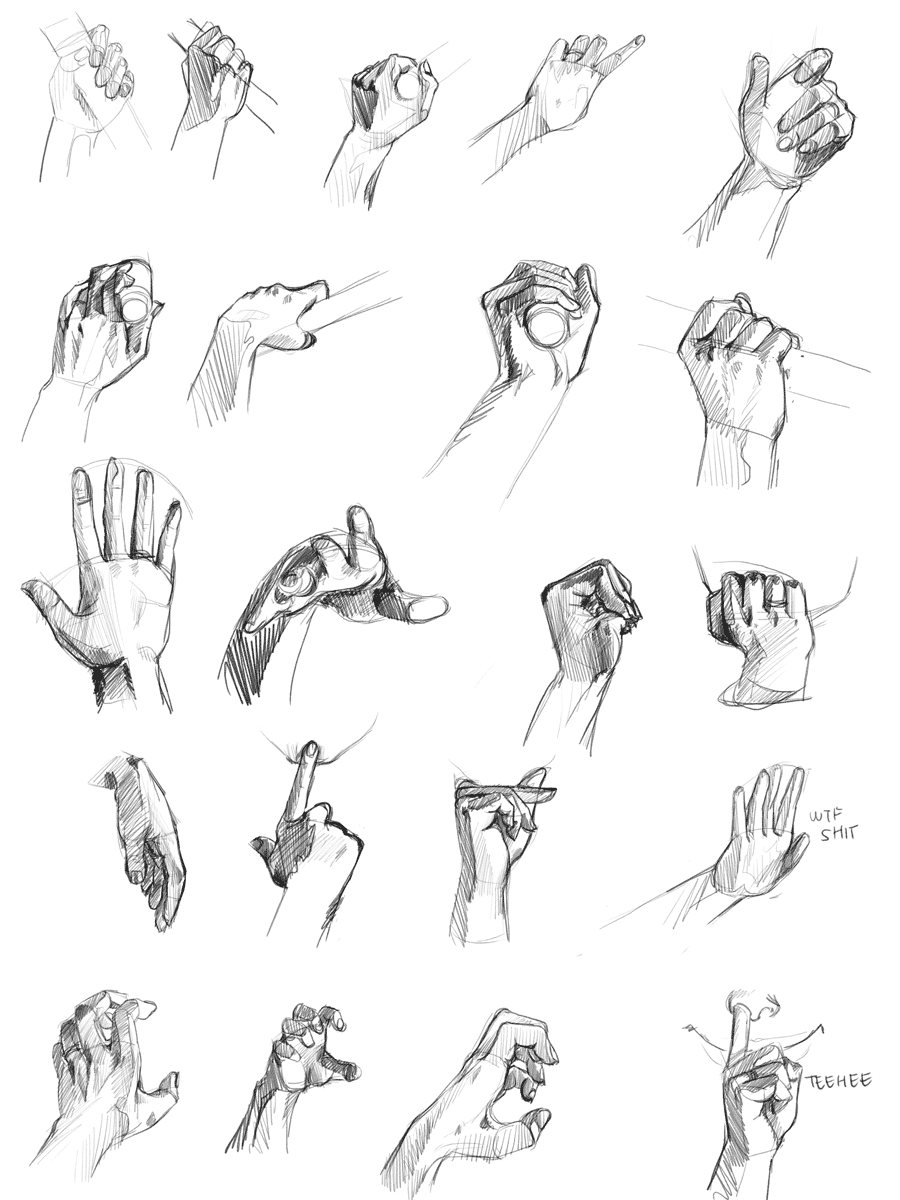Hand Holding Lamp Drawing
