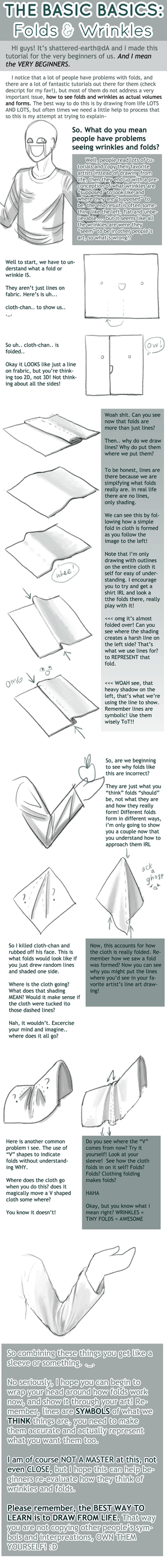 The BASICS : Folds + Wrinkles by Shattered-Earth