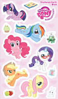 My Mini Ponies Sticker Sheet