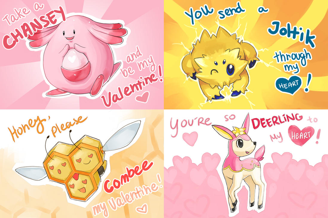 Terrible Pokemon Valentines by Shattered-Earth