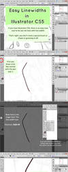 Illustrator CS5 - EASY Line Width/Weight Tutorial by Shattered-Earth