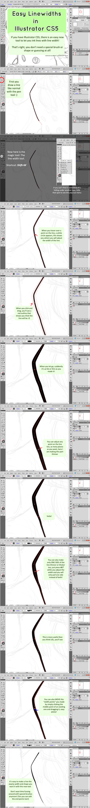 Single Weight Line Art Tutorial : Illustrator cs easy line width weight tutorial by