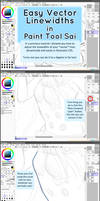 Paint Tool SAI - Vector Line Width/Weight Tutorial