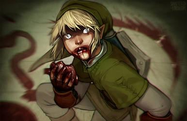 Link Needs Hearts. Happy Halloween!