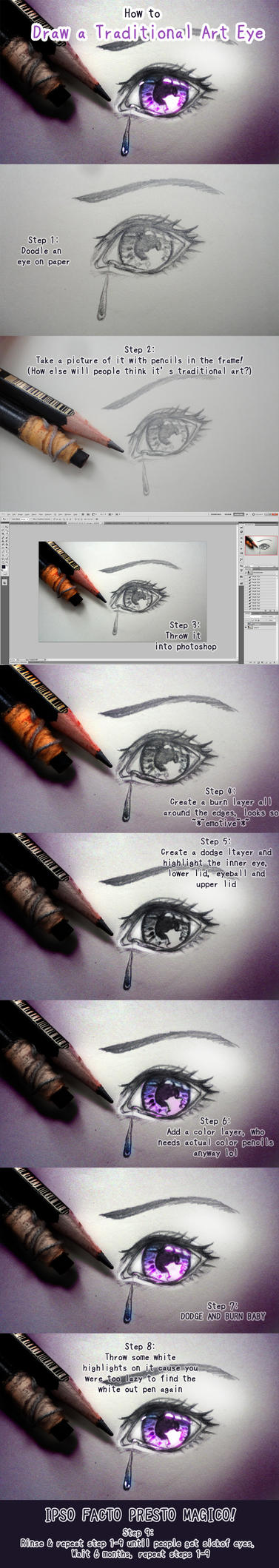 How to Draw a Traditional Art Eye by Shattered-Earth