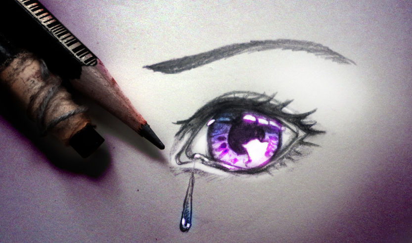 Crying Eyes Drawing Easy 41483 Usbdata