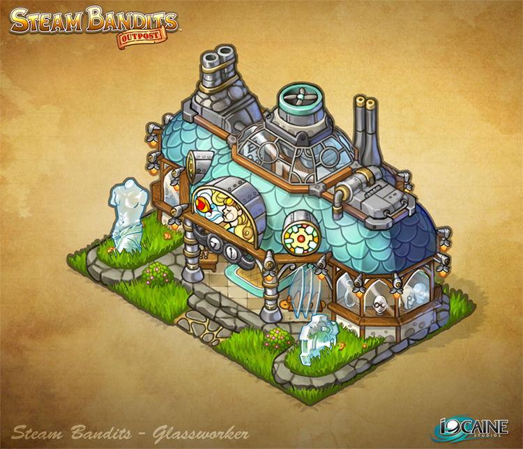 Steam Bandits Outpost Building - Glassworker by Shattered-Earth