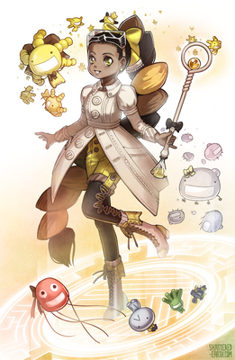 Microbe Magical Girl [Commission]
