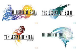 Final Fantasy x Legend of Zelda Logos Cross Over by Shattered-Earth